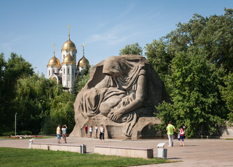 Monument at Mamaev Kurgan, Volgograd, Russia