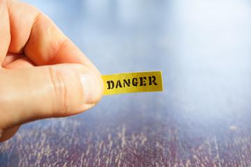 danger warning concept