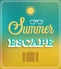 Summer Escape typographic design.