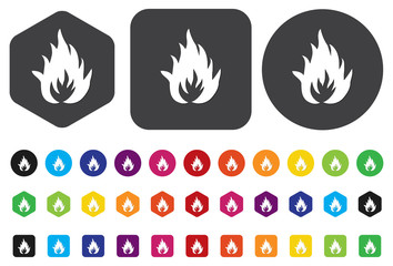 Flames fire button