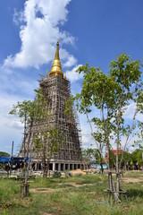 The big pagoda under construction
