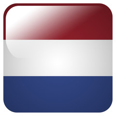Glossy icon with flag of Netherlands