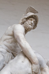Menelaus supporting the body of patroclus florence italy