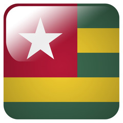 Glossy icon with flag of Togo