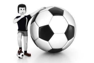 Schiedsrichter mit großen Ball