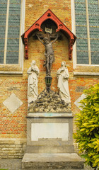 Crucifixion  adorning  cathedral in Bruges