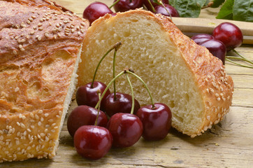Bread and cherries Pane e ciliege Pan y las cerezas