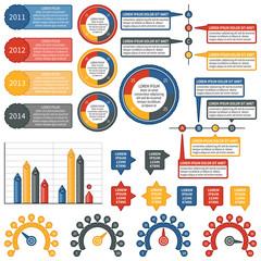 Vector infographics elements. Industrial set.