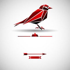Modern background with triangle bird