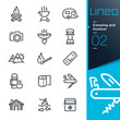 Lineo - Camping and Outdoor outline icons - 65590823