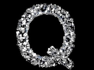 Eisener Buchstabe - Q