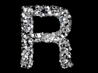 Eisener Buchstabe - R