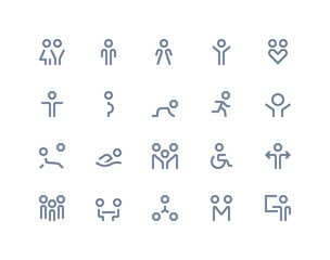 People icons. Line series