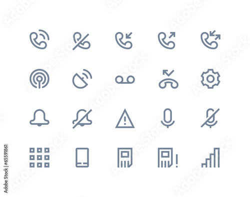 Phone logs icons. Line series - 65591861