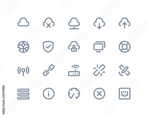 Wireless network icons. Line series - 65591886