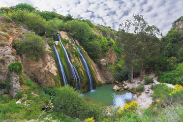 The waterfall in northern Israel