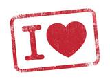 I Love - tampon