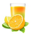 Glass of citrus juice