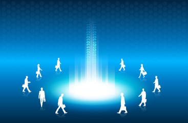 luce, raggio di luce, network
