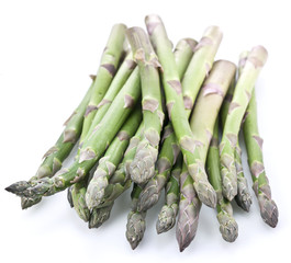 Asparagus over white.