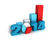 successful business bar and pie graphs 2014 year