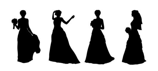 bride silhouettes set 1
