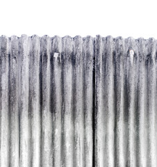Galvanized iron texture background ,isolated white background