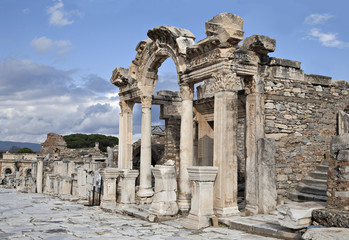 The temple of Hadrian, Ephesos, Turkey
