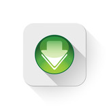 Download icon With long shadow over app button