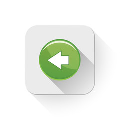 back and forward arrow icon With long shadow over app button