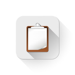 illustration of check list With long shadow over app button