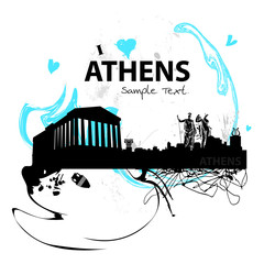 Athen-skyline abstract