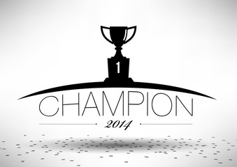Champion Team Cup Typograhpy Design