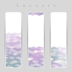 Pastel geometric banners.