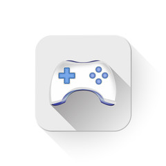 Game pad With long shadow over app button