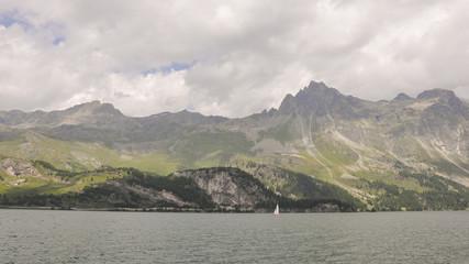 Maloja, Silsersee, See, Schweizer Alpen, Sommer, Graubünden