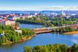 Aerial panorama of Helsinki, Finland