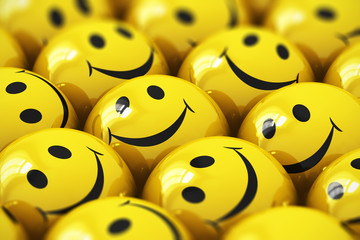 Happy yellow smileys