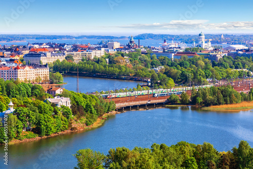Aerial panorama of Helsinki, Finland - 65597401