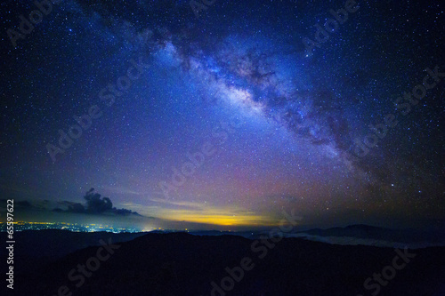 canvas print picture Milky way