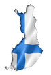 Leinwanddruck Bild - Finnish flag map