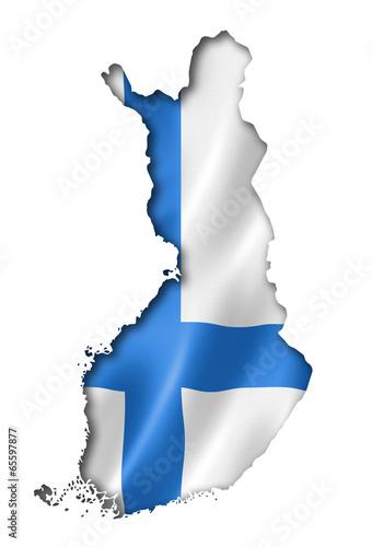 Leinwanddruck Bild Finnish flag map