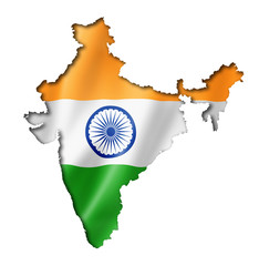 Indian flag map