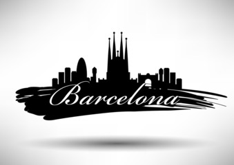 Barcelona City Typography Design