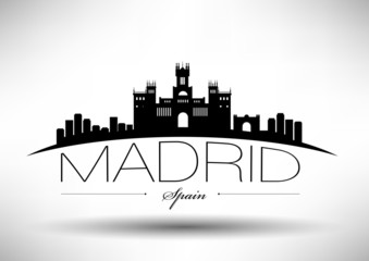 Madrid City Typography Design