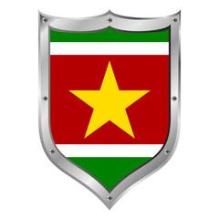 Suriname flag button.