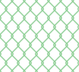 Seamless green  Chain Fence