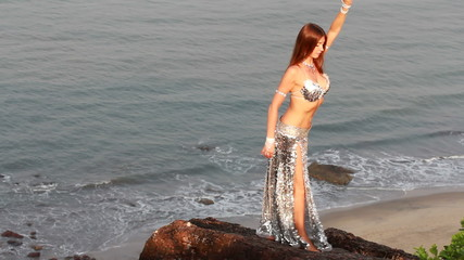 beautiful bellydancer poses.