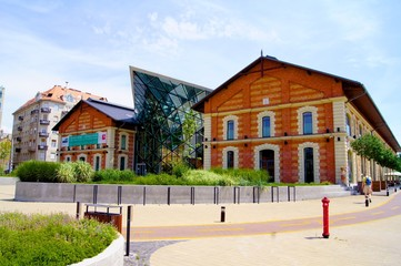 Historical and Modern Budapest Industrial building