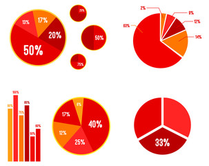Pie Charts And Bar Graphic Statistics Vector Illustration